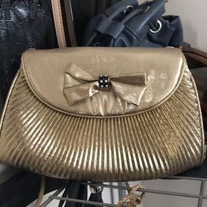 Disco Boogie Nights 1980's Golden Clutch/Crossbody